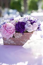 purple wedding centerpieces shades of purple wedding centerpieces