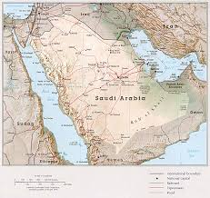 Travel Maps 1up Travel Maps Of Saudi Arabia Country Map 504k