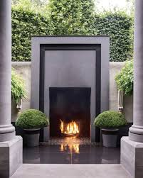 20 ways to outdoor modern fireplace