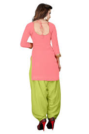 Light Green Color by Buy Banorani Neon Pink U0026 Light Green Color Faux Georgette Self