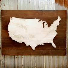 united states map wooden reclaimed rustic decor us wall map