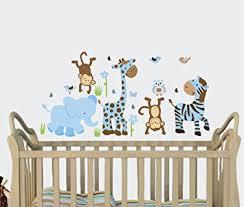 Animal Wall Decals For Nursery Boy Blue Baby Boy Wall Decals Jungle Animal