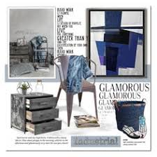 blue and gold lagoon polyvore home moodboards pinterest
