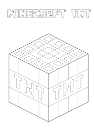 minecraft tnt coloring free printable coloring pages