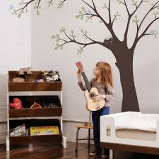 wall decals and wall stickers by simple shapes ceiling tree with birds and nest wall decal