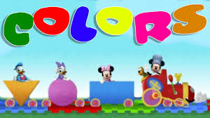 choo choo express learn colors with mickey mouse funny game for