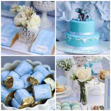 Exquisite Design Blue And Gold Baby Shower Decorations Beautiful