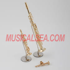miniature clarinet metallic musical instrument crafts miniature