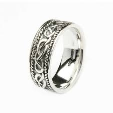 mens silver rings silver celtic knot gents ring