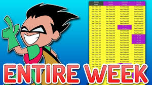 teen titans aired entire week straight