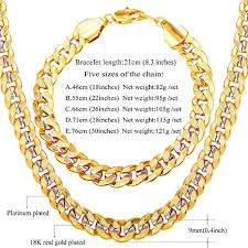 chunky necklace chain images U7 men classic cuban chain hip hop rock style 9mm wide chunky jpg