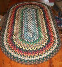 Rag Rug Directions Exactly How To Make A Braided Rug Threads Pinterest Craft