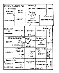 County Map Illinois by Champaign County Illinois Maps And Gazetteers