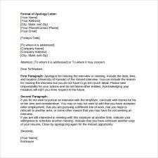 sample formal excuse letters