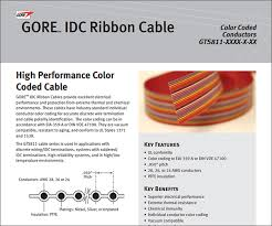 gore color coded idc ribbon cables gore