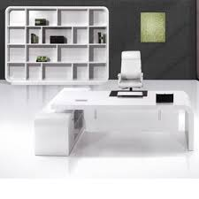 White Gloss Office Furniture by White High Gloss Office Desk With Curved Office Desk For Unique