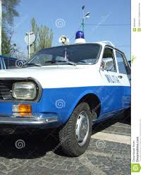 renault romania dacia 1300 militia editorial stock photo image 30994258