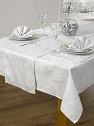 table runner placemat set 14 piece table linen set sparkle holly silver tablecloth runner