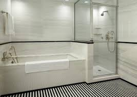 Black And White Subway Tile Bathroom For Modern Bathroom Designs - Modern subway tile bathroom designs