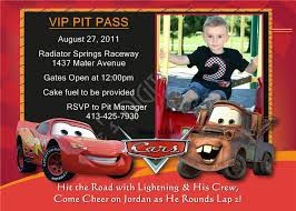 Personalized Birthday Invitation Cards Disney Cars Custom Birthday Invitations Free Invitations Ideas