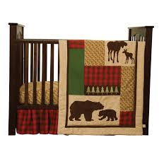 Flannel Crib Bedding Trend Lab 3 Northwoods Crib Bedding Set Hayneedle