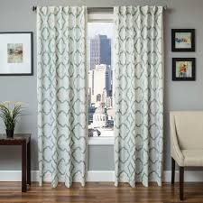 Aqua And Grey Curtains Softline Home Fashions Drapery Grenoble Panel And Decorative Pillows