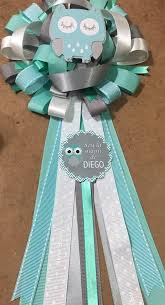 corsage de baby shower distintivo o corsage para baby shower 150 00 en mercado libre