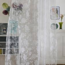 Sheer Door Curtains Floral Voile Sheer Door Curtain Scarfs Window Room Drape Divider
