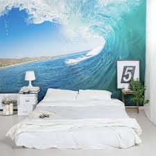 Wall Mural Wallpaper Nature Forest Tree Light Show Photo Big Surf Wave Wall Mural