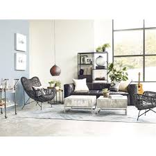 Living Room Wicker Furniture Cowan Modern Classic Black Metal Wicker Chair Kathy Kuo Home