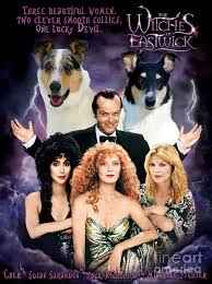 smooth collie canvas print the witches of eastwick