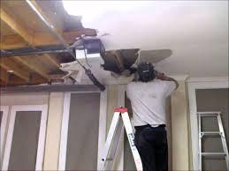 Ceiling Water Damage Repair by Preparing A Water Damaged Plasterboard Garage Ceiling Hawthorn