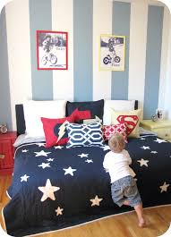 Blue And Red Striped Rug Bedroom Fascinating Boy Blue And Red Bedroom Decoration With Blue