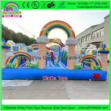 giant rainbow bouncy castle giant trampoline bed kids play house