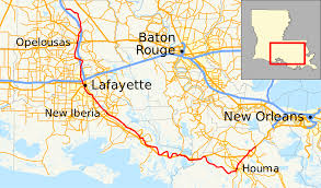 South Louisiana Map by Louisiana Highway 182 Wikipedia