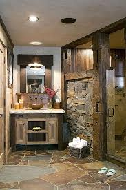 love this rustic bathroom in a cabin mountain home i really
