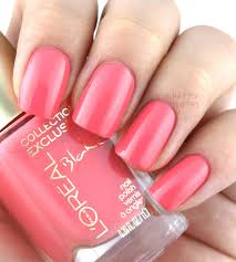 l u0027oreal collection exclusive pinks collection nail polish review
