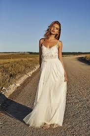 smoking bohemian wedding dresses