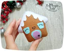christmas ornaments felt gingerbread house christmas tree
