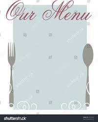 blank menu templates blank menu template