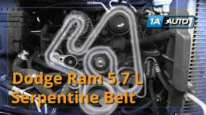 how to install replace serpentine belt 2008 dodge ram 5 7l hemi