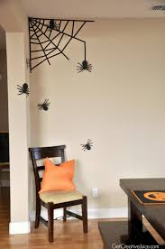 washi tape spider web wall decor easy fast diy halloween