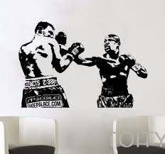 online get cheap fight stickers aliexpress com alibaba group mma fight boxing graphic evander holyfield wall vinyl sticker decal decor school dorm living room bedroom