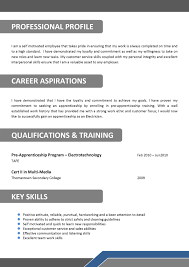 Australian Resume Template Free Alluring Resume Of Industrial Electrician In Electrician Cover