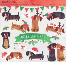 dachshund christmas clipart 38