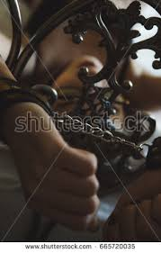 handcuffed to bed bondage wrists tied stock images royalty free images vectors