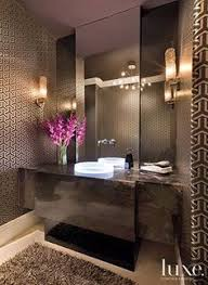powder room contemporary cantilevered sink decorative ideas with