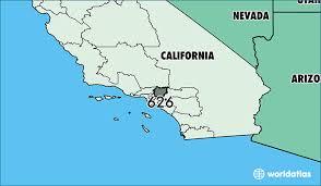 pasadena zip code map where is area code 626 map of area code 626 pasadena ca area code