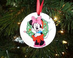 Minnie Mouse Christmas Decorations Minnie Ornament Etsy