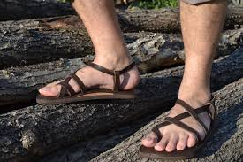 brown leather sandals men sandals flat sandals strap